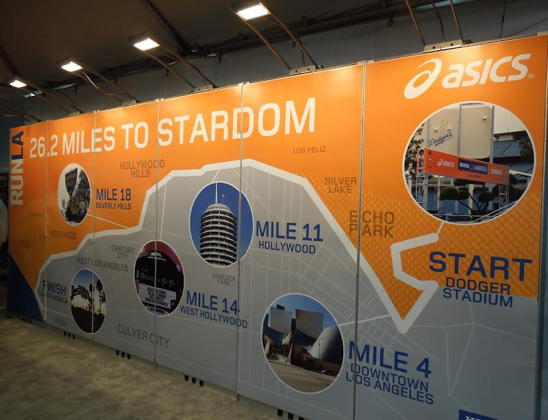 LA Marathon route wall
