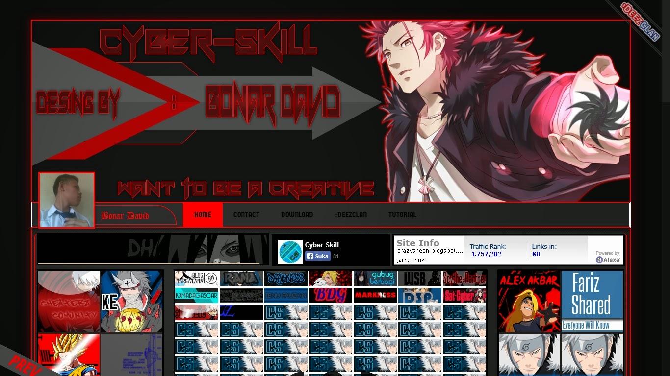 Download Template Keren Cyber skiil