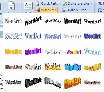 atau tulisan melengkung telah tertulis di lembar kerja Ms Word anda