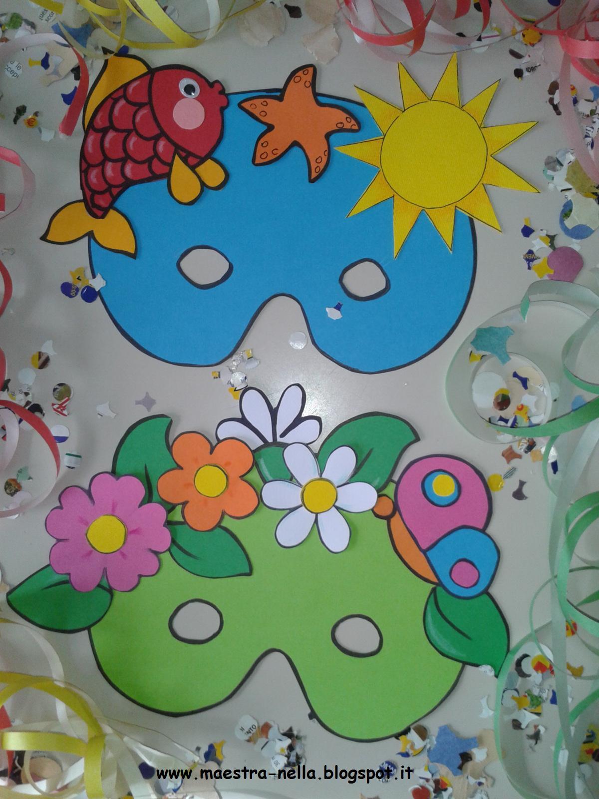 Maestra nella carnevale maschere 4 stagioni for Addobbi per l aula di carnevale