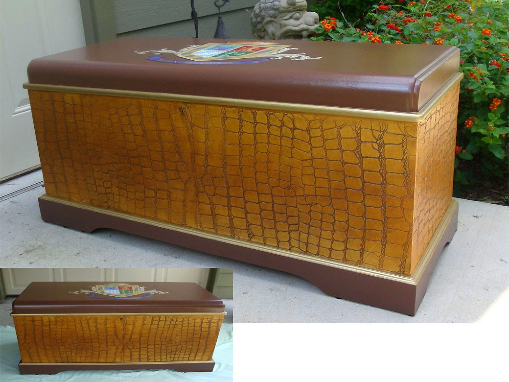 painted cedar chest