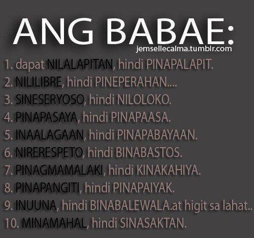 Ang Babae Quotes Images Pinoy Simple