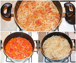 preparare spaghete bolognese, spaghete bolognese reteta, retete culinare, cum facem spaghete bolognese, cum facem spaghete cu sos si carne,