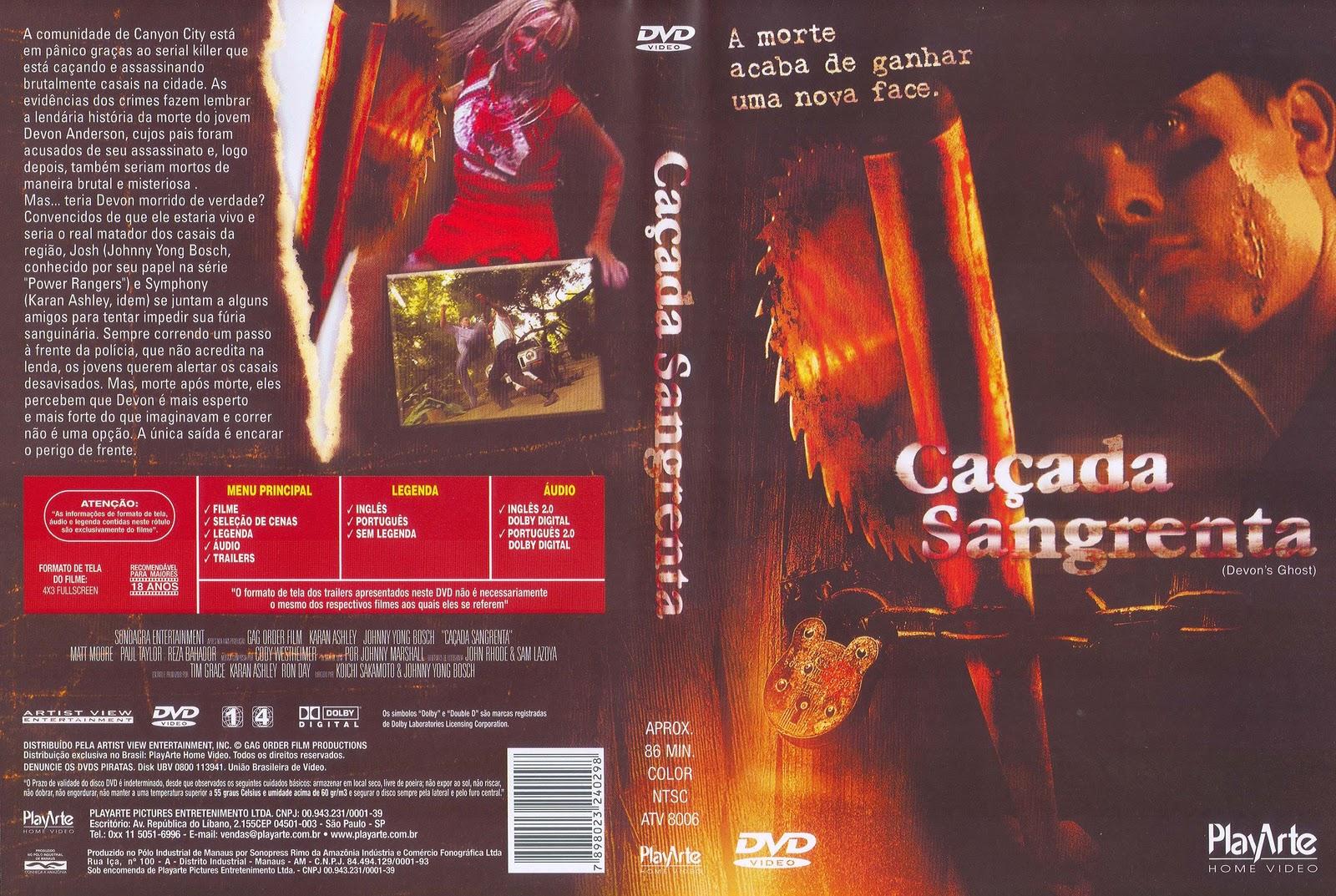 Caçada Sangrenta DVD Capa