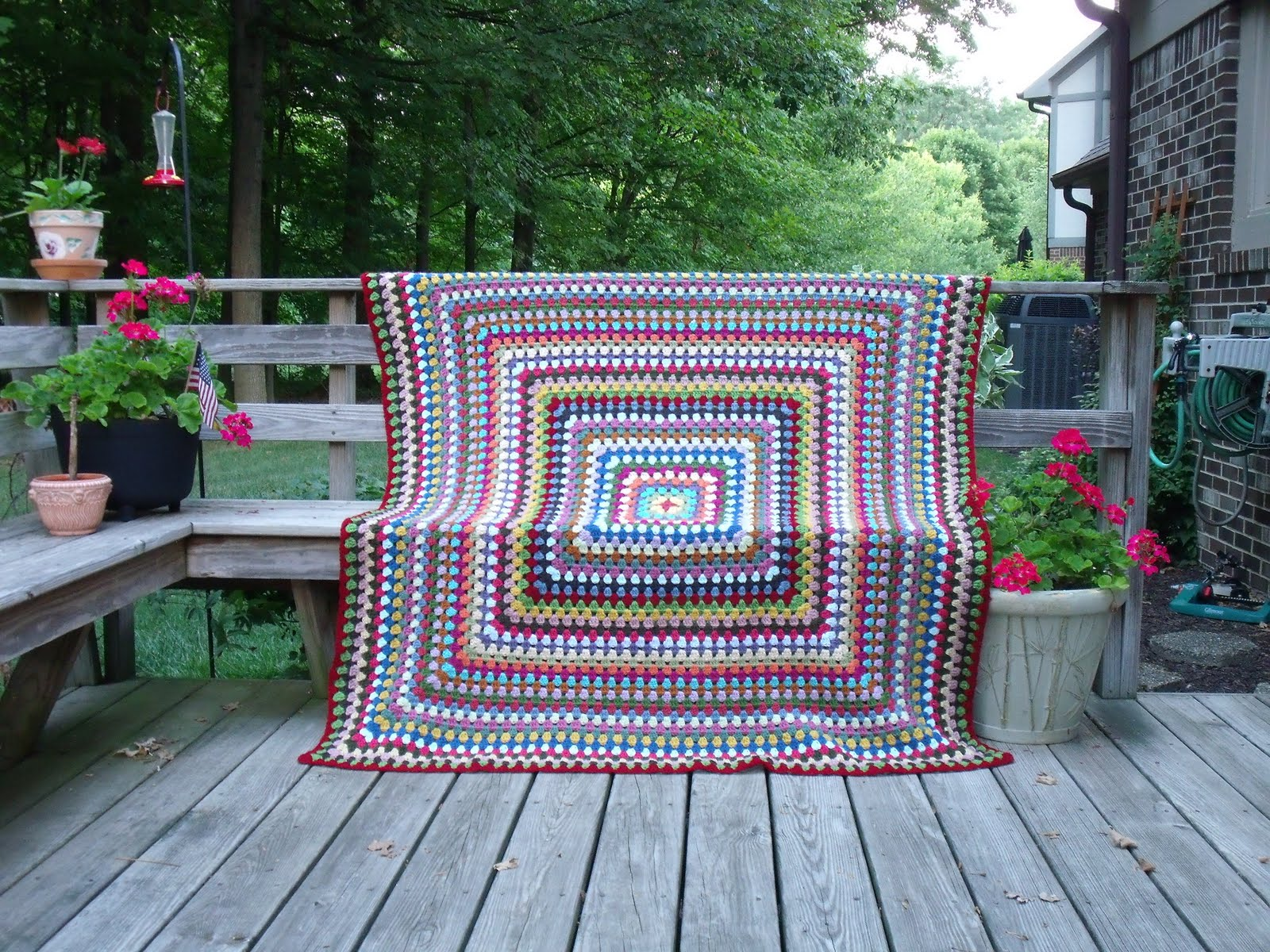 Granny Square Afghan Pattern Simple Design