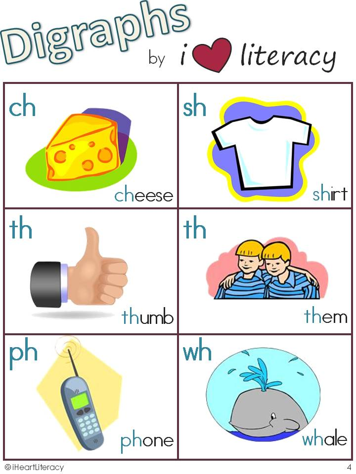 iHeartLiteracy: Friday Freebie: Digraphs, Blends, and Silent ...