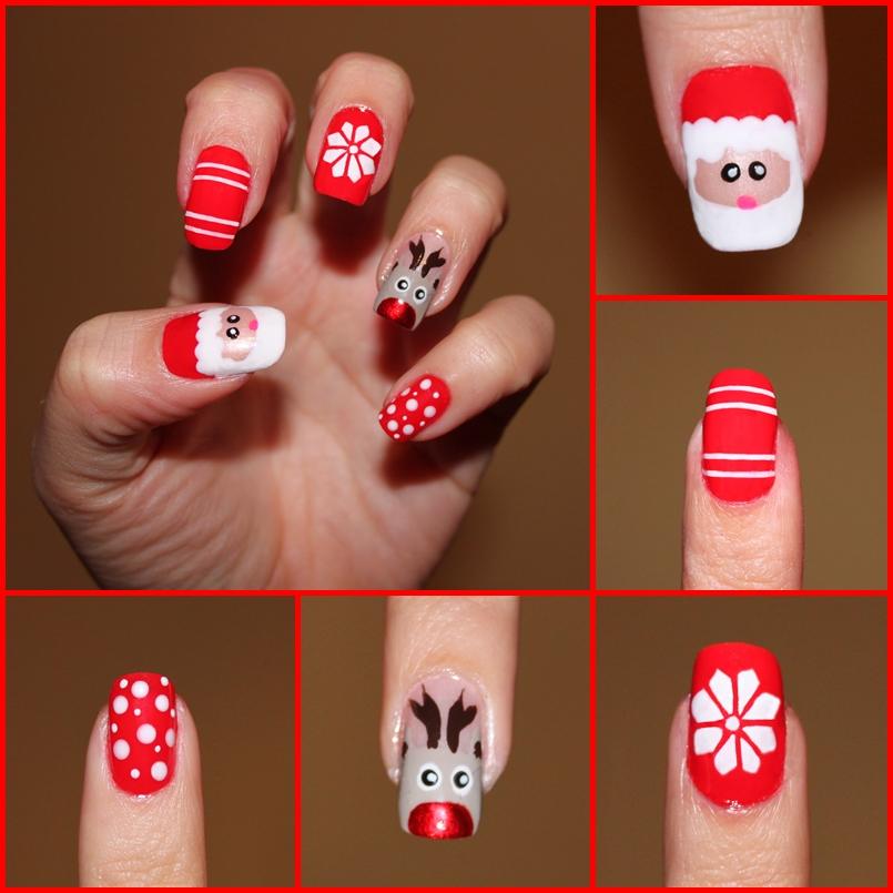 Diseños de uñas para Navidad  Manicura+de+navidad