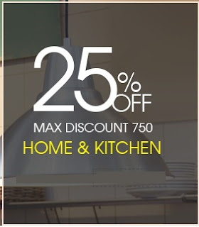Flat 25% OFF on Home & Kitchen (All Cookware & Appliances) @ Pepperfry