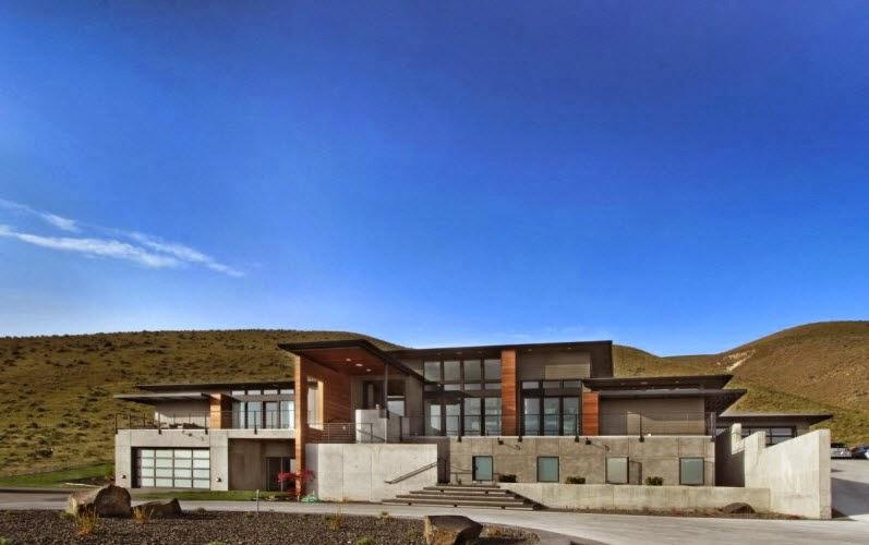diseo de moderna casa en la montaa fachada with diseo de una casa