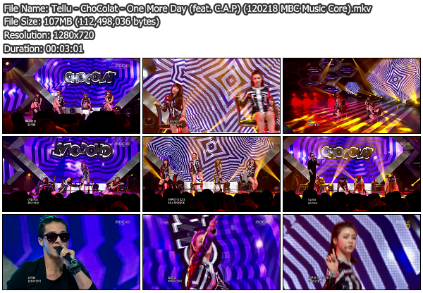 [Perf] ChoColat   One More Day (feat. C.A.P) @ MBC Music Core 120218