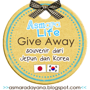 Giveaway Souvenir dari Jepun dan Korea