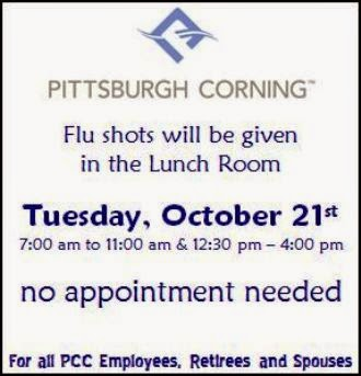 10-21 Pittsburgh Corning Flu Shots
