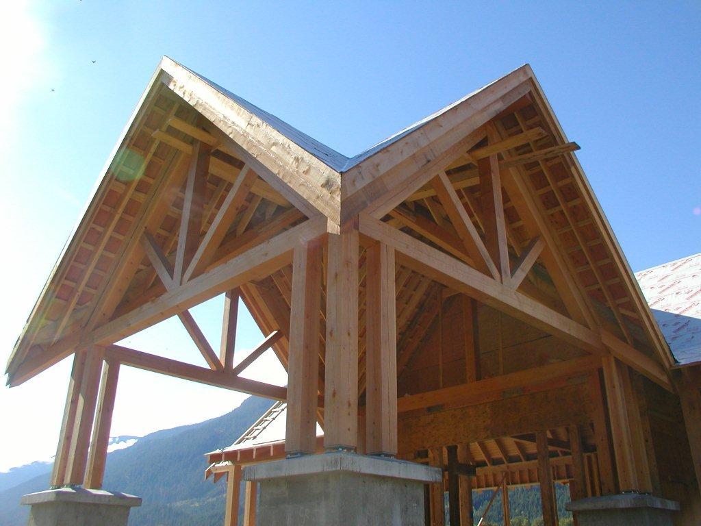 darren king woodworks soffit exterior beams On exterior beams