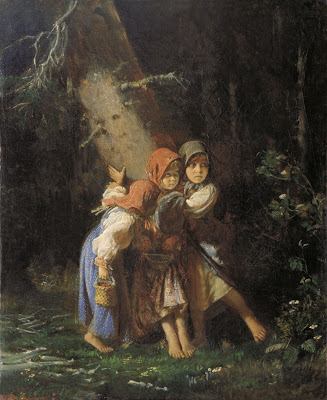 Alexei Korzukhin, Peasant Girls in a Forest, 1878