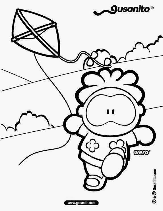Dibujos para colorear. Maestra de Infantil y Primaria.: Las cometas ...