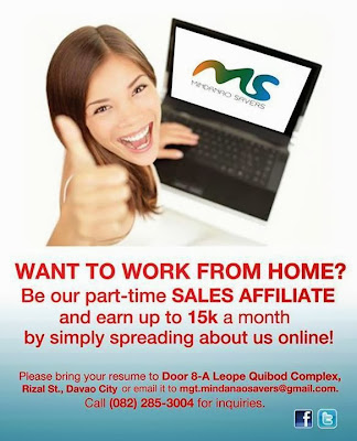 Home-Based Jobs Davao: Sales Associate for Mindanao Savers