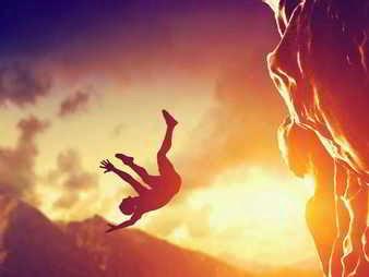 Caerse de una montaña