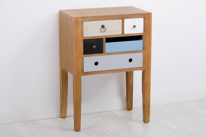 Kimber muebles de madera y cajones de colores for Muebles kimber