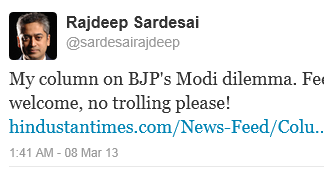 Rajdeep Sardesai Super Troll & Hate Monger
