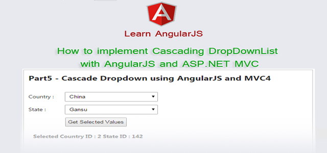 How to implement Cascading DropDownList with AngularJS and ASP.NET MVC