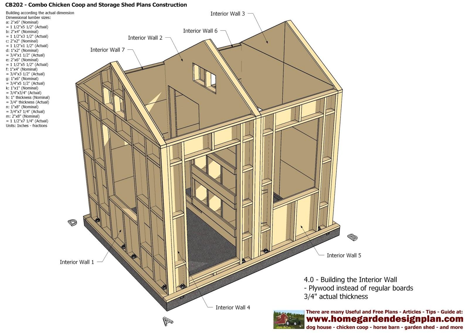CB202 Combo Plans Chicken Coop Plans Construction Garden Sheds Plans Storage Sheds Plans Construction ~ shed making plans  sc 1 st  shed making plans & CB202 Combo Plans Chicken Coop Plans Construction Garden Sheds Plans ...