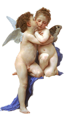 imagen vintage ángeles de Bouguereau