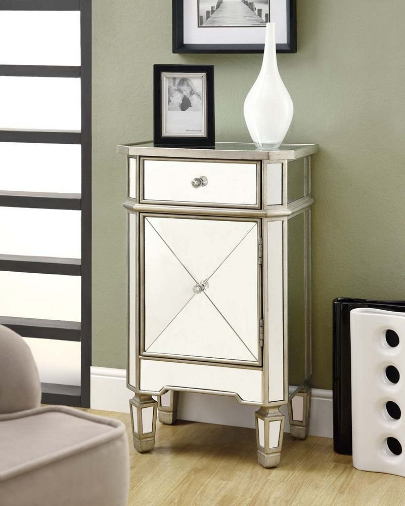 Hollywood glam on the cheap mirrored bedroom living Affordable mirrored bedroom furniture