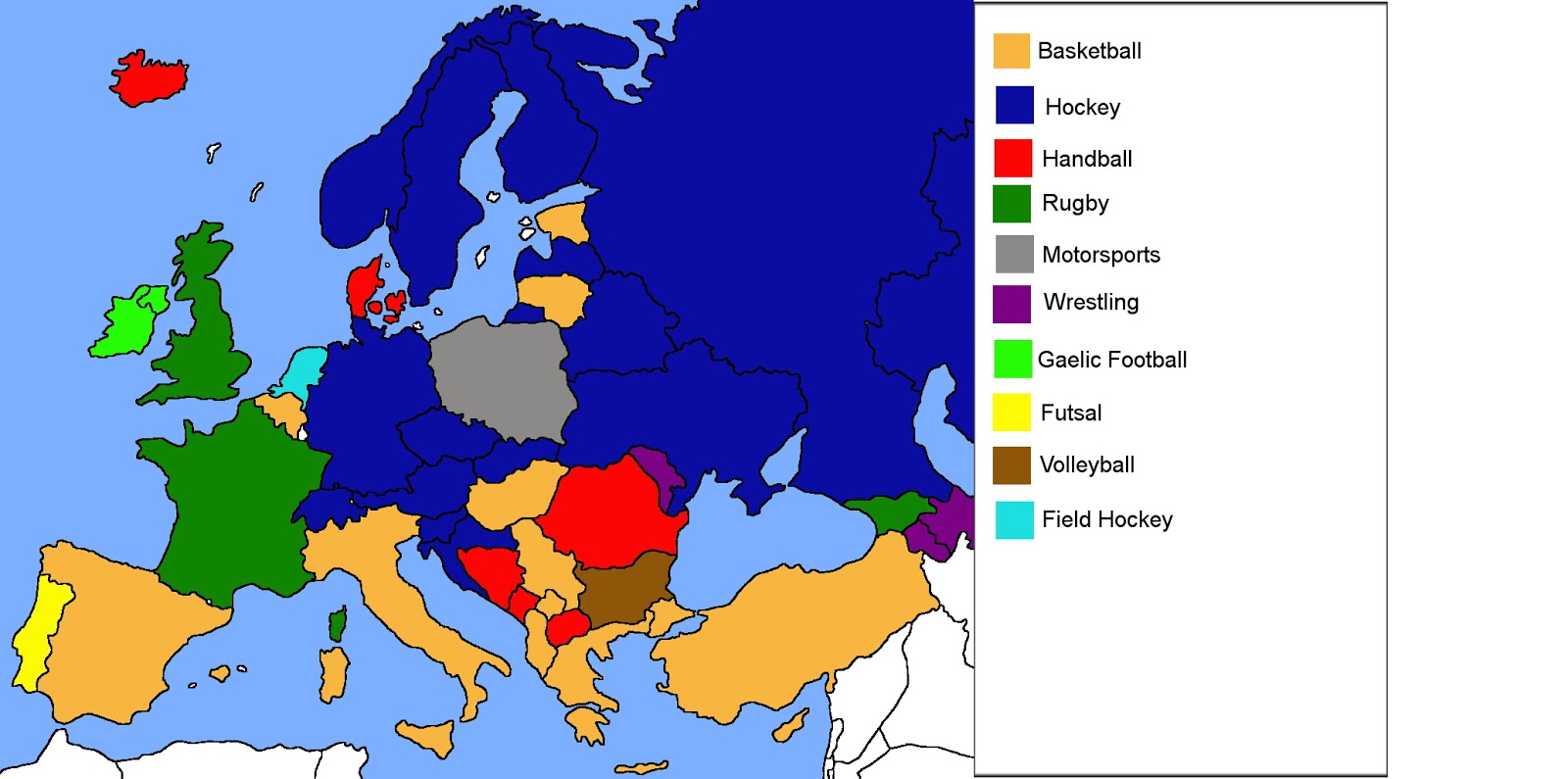 Which is the second most popular sport in the Europe after soccer?