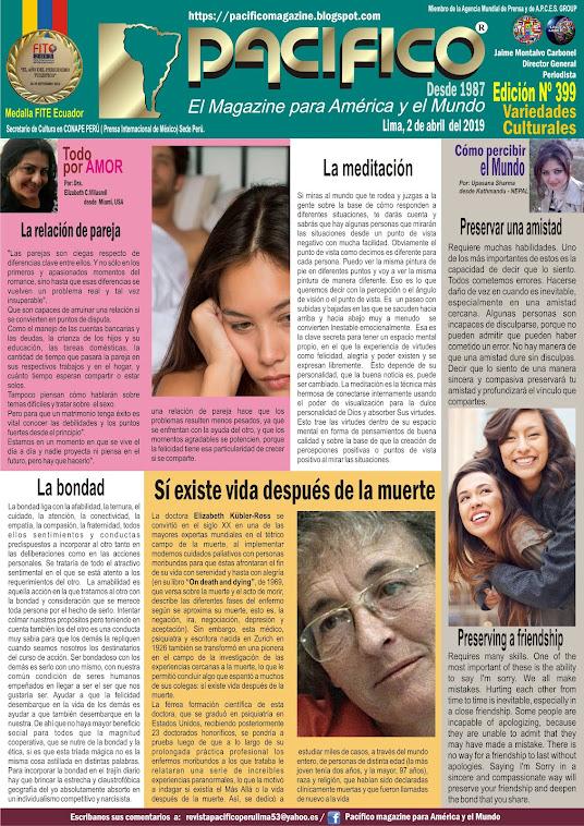 Revista Pacifico N° 399 Variedades Culturales