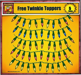 Free Twinkle Light Clip art at TPT store