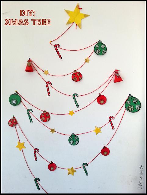 DIY Xmas tree / Decoración artesanal navideña por poco dinero (árbol de navidad)