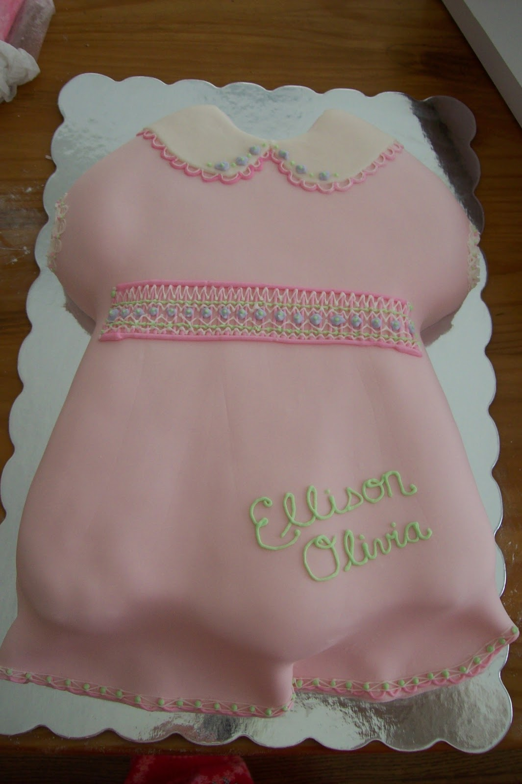 Sugar Trail Baby Dress Cake Cupcakes