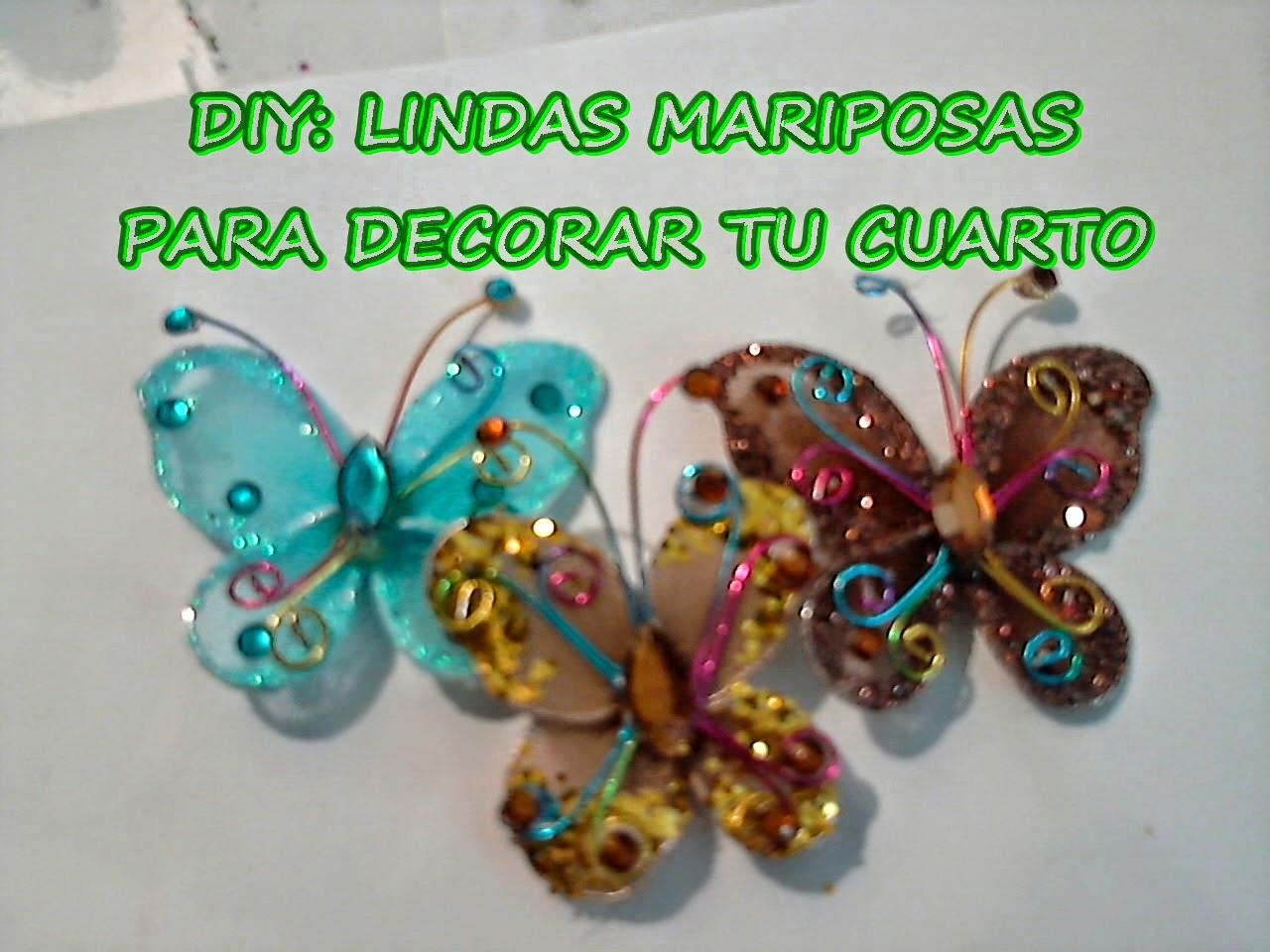 Diy inspiration diy lindas mariposas en medias for Cosas para decorar tu habitacion