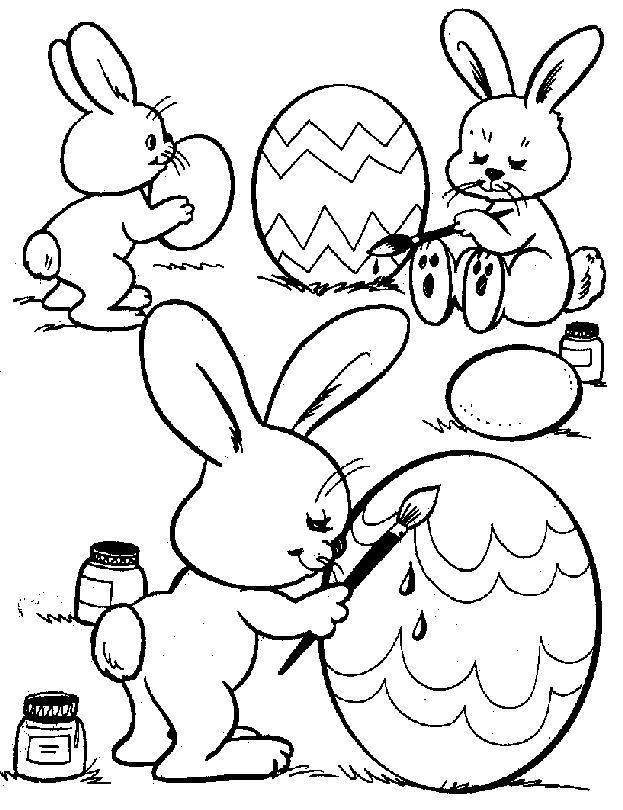 Conejos de pascua para colorear ~ Portal de Manualidades