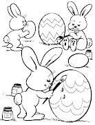 Conejos de pascua para colorear manualidades para pascua