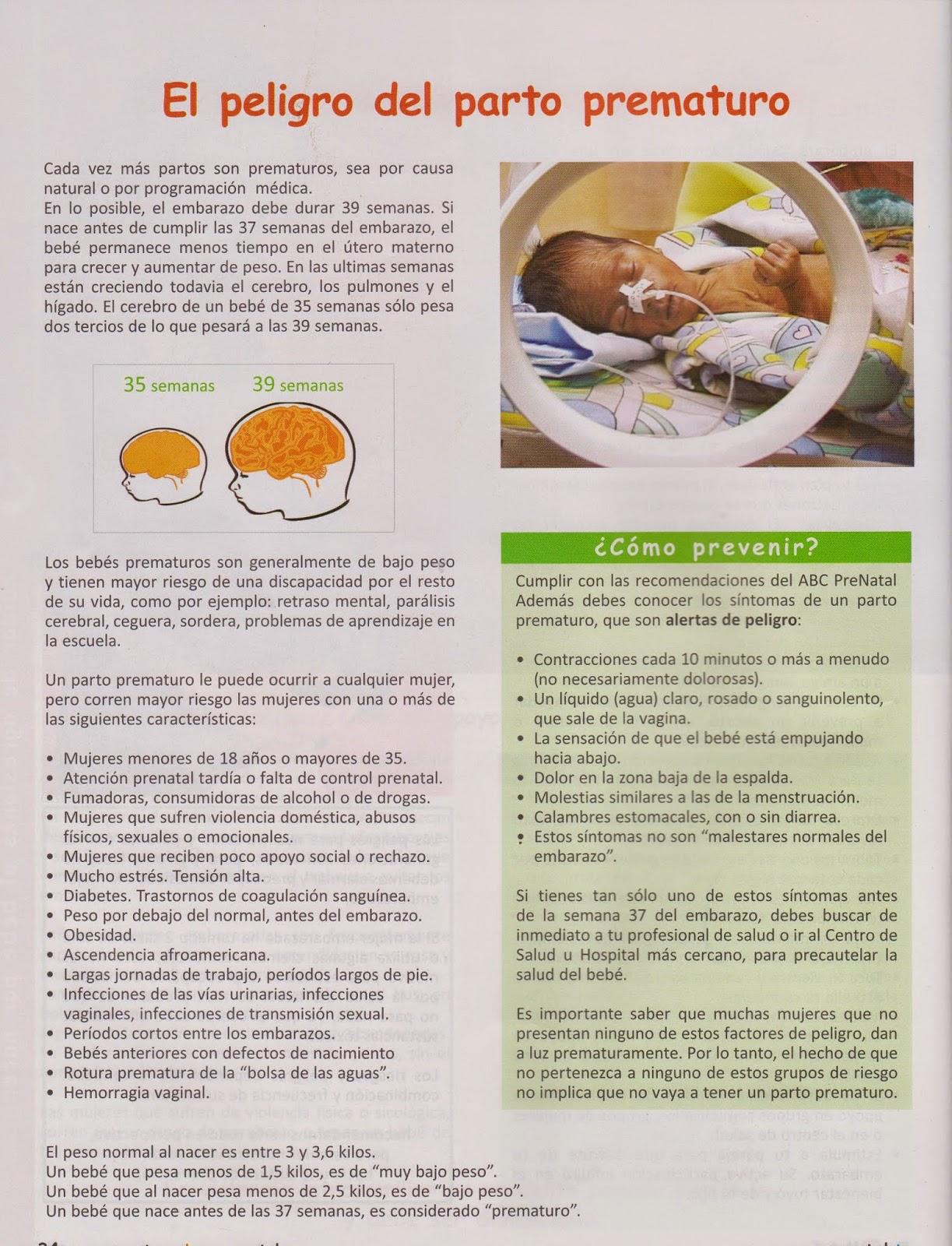 peligros del parto prematuro