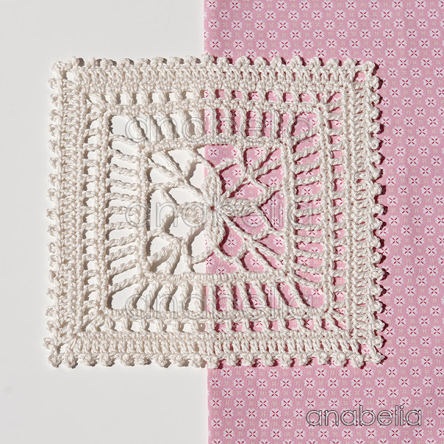 Lily crochet square motif by Anabelia