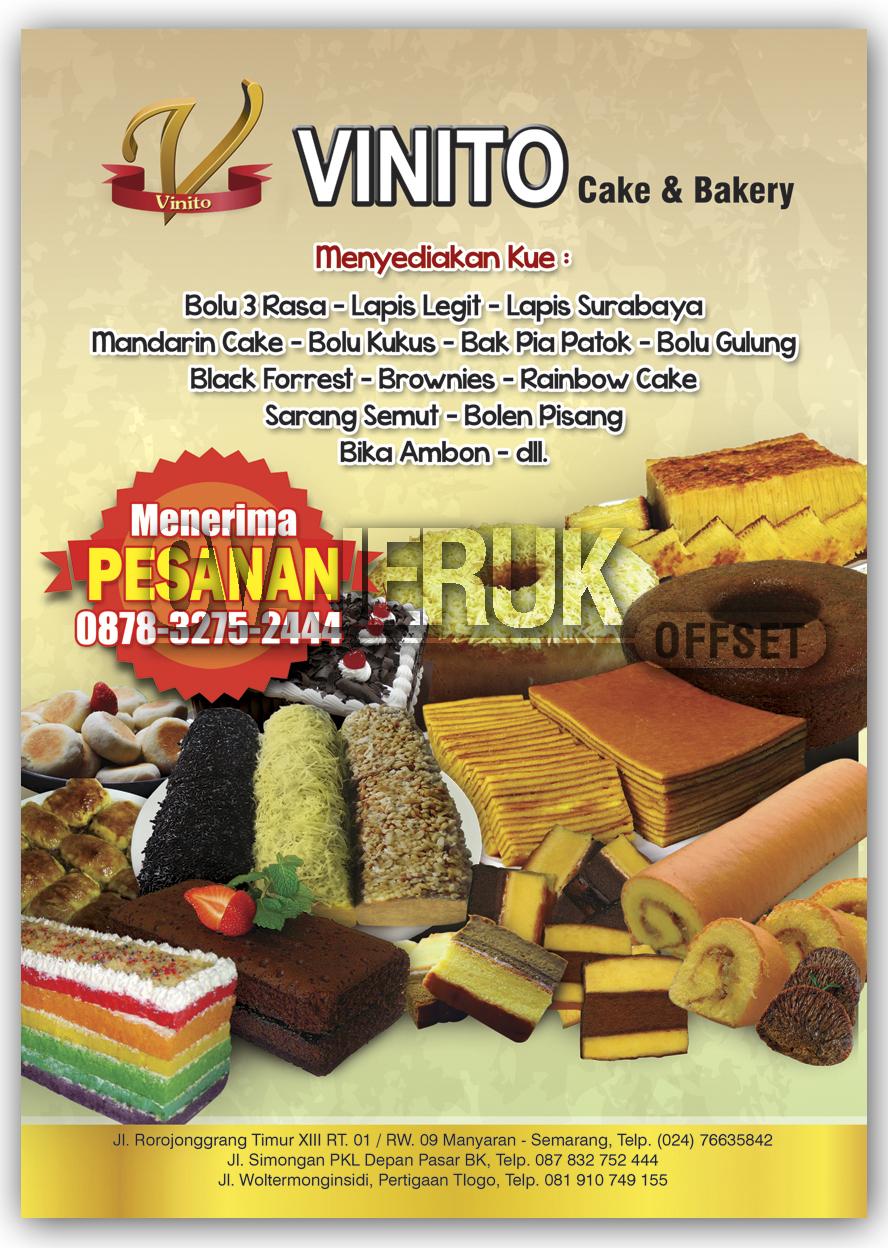 Brosur Vinito Cake A5 Percetakan Jeruk Offset Cv