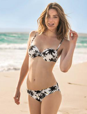 bikini estampado tropical Carrefour