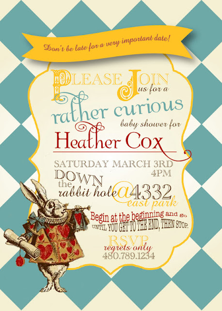ink 39 d life on paper baby shower invites alice in wonderland