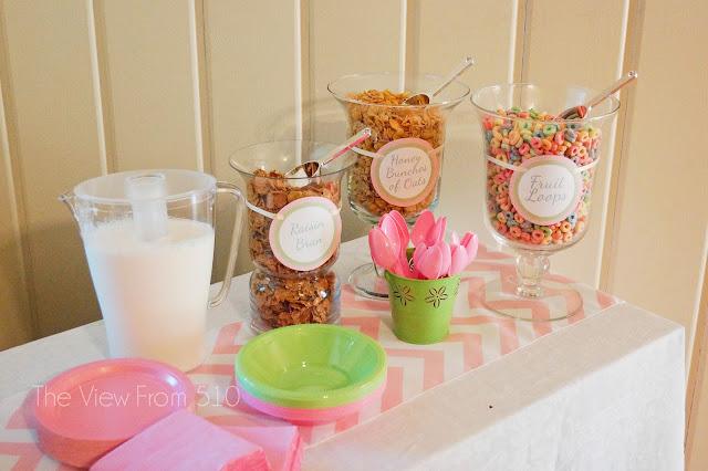 Wedding Brunch Cereal Bar