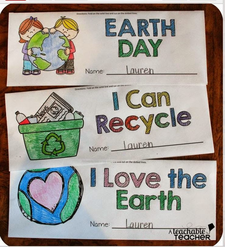http://www.teacherspayteachers.com/Product/FREE-Earth-Day-Fold-Snip-Books-Graphic-Organizers-1203703