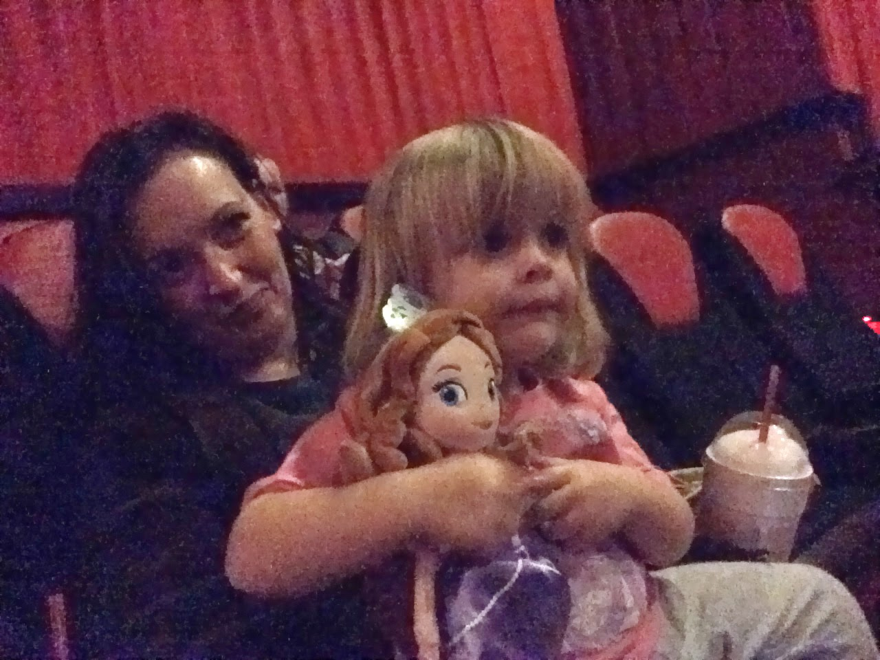 So She Sat With Anna For The First Half, Then Moved Over To My Lap She  Adored The Movie Ate It Up With A Spoon Every Single, Solitary Minute Of  It