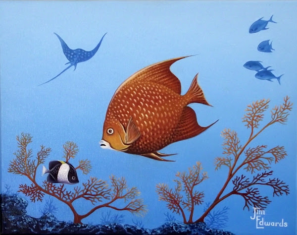 Gray Angel Fish 11 x 14 (Sold)