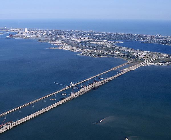 galveston bridge height
