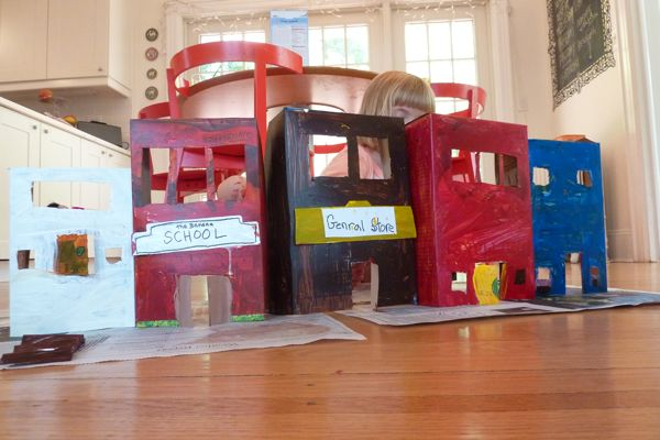 The Good Long Road: Ten for Tuesday - Cereal Box Crafts Cereal Box House Designs on cardboard box house, cracker box house, making house, waffle box house,