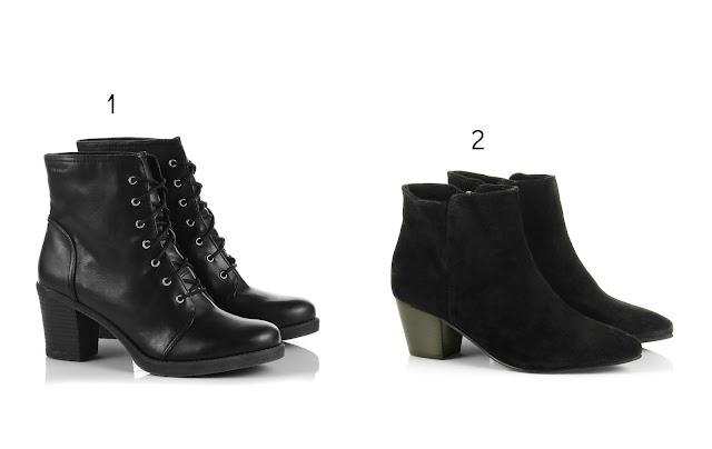 esprit black ankle boots