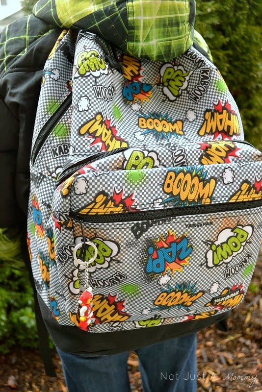 Yak Pak Retro Comics backpack closeup