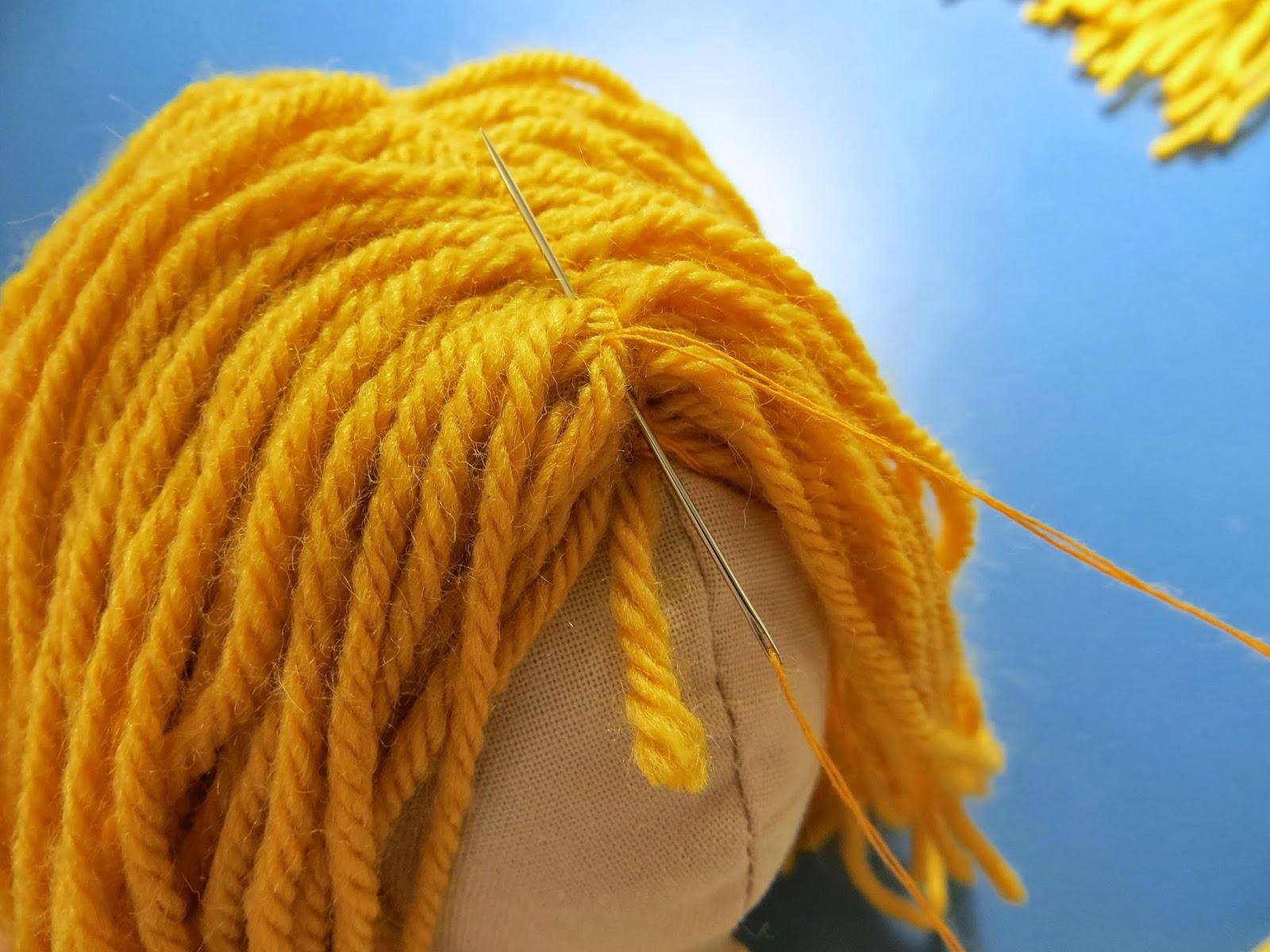 Yarn for doll hair