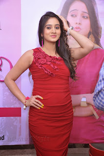 Harshika Pooncha latest Pictures in red 004.jpg